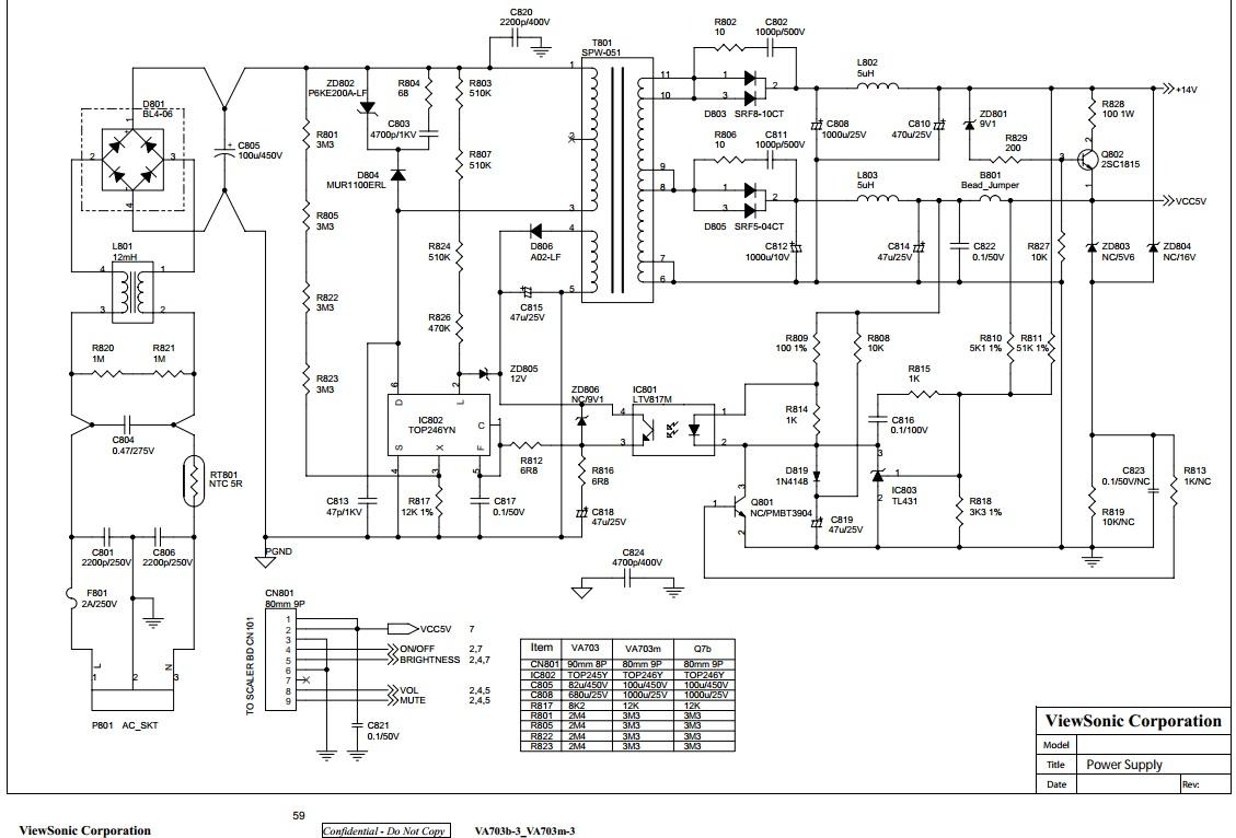 Схема питания жк монитора фото 619