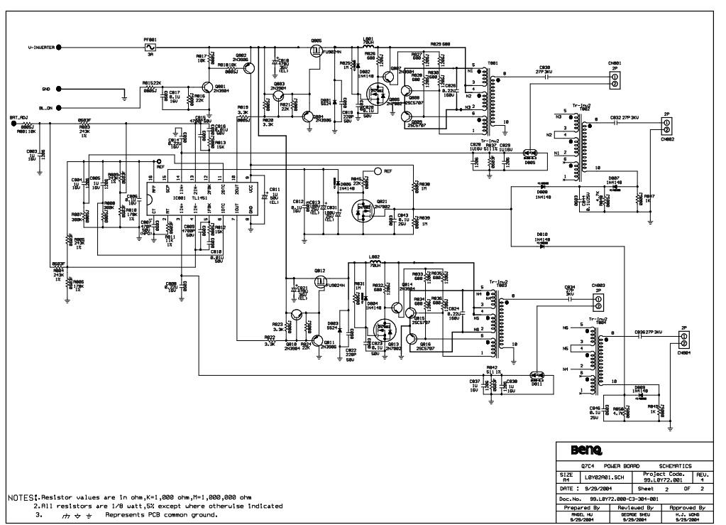 Схема монитора benq gl2450-b